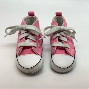 Baby Converse Sneakers Pink Size 3 Infant Lace Up